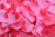 5,000pcs 4.5*4.5cm Gradient Hot Pink Rose Flower Leaves Petals For Wedding Party Holiday Venue Decoration Color-21