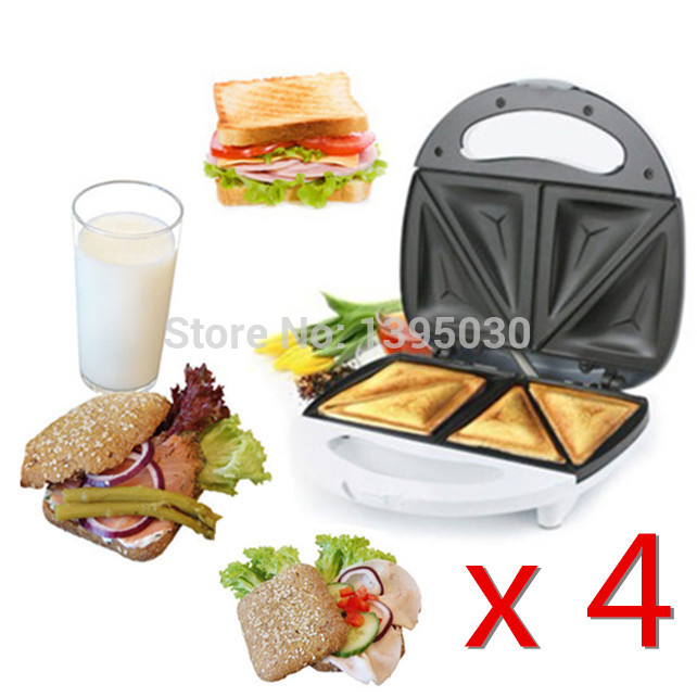 4PCS/Lot FS8009A Double Layer Slice Sandwich Makers Applicance Waffle Machine Pizza Biscuit Hamburger Maker<br><br>Aliexpress