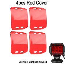 "4x Clear Black Red Blue Amber Color Shell Snap On LED Work Light Bar Dust Proof Protective Covers 4x4 4WD ATV 18W 4""INCH Offroad"