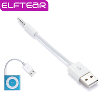 USB 2.0 Data Sync Charger Transfer Cable for Apple iPod Shuffle 3rd 4th 5th 6th MP3 Player 3.5mm Jack Adapter Charging Cord