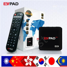 NEW Evpad 2s+ pro+ Korean Japan EVPAD PRO+ IPTV China HK Malaysia Taiwan US Android TV box streaming box(China)