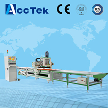 High precision factory price 1300*2500mm  auto feeding wood processing machine router