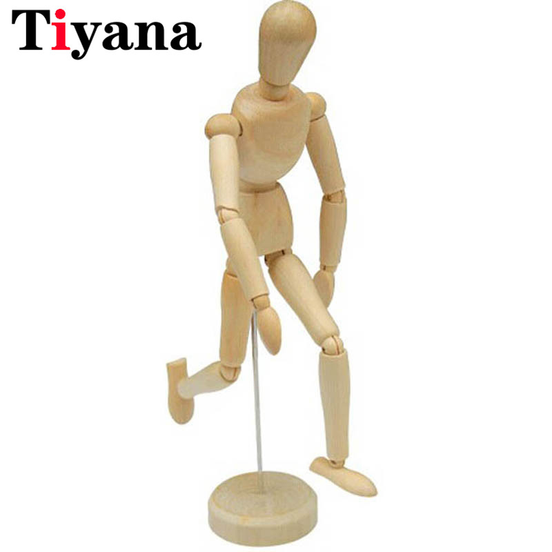 Handcrafted Doll Figure Model Sketch Articulated Ball Joint Wooden Dummy 30 Cm