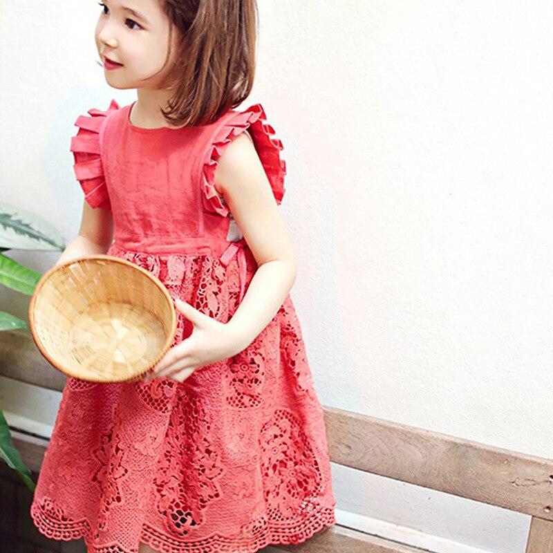 Girls lace dress Summer 2017 New Korean children Princess Dresses Kids Vest Dress 4-11 Year<br><br>Aliexpress