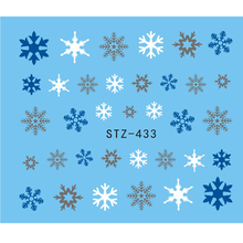 1 Sheet Multi Color Snowflake Winter Designs Decals Water Transfer Nail Art Stickers Woman Make Up Tools JISTZ433(China)