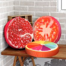 40cm 3D Print Winter Pillows Fruit PP Warn Cotton Office Chair Back Cushion Sofa Throw Pillow For Christmas Home Decor(China)