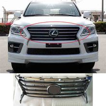 ABS Front Grille Around Trim Racing Grills Trim for Lexus LX570 LX460 2012-2015