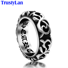 trustyLan Cool Jewelry Accessory Stainless Steel Ring Religious Male Rings Exaggerated Engagement Rings For Men Big Size 10 Uomo(China)