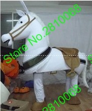QIANYIDUOO EVA Material Two people wearing show white Horse Mascot Costumes Movie props party cartoon Apparel Four styles 481(China)