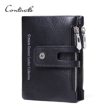 Genuine Leather Wallet Unisex Fashion Purse Exclusive service Engraving Dropshipped For Gift Brand Design Wallets CONTACT'S(China)