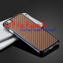 "by dhl or ems 200pcs Carbon Fiber Chromed Hard Case Cover Skin For Iphone 6 4.7"" Plus 5.5""(China)"