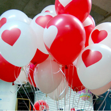 50 pcs/lot Lovely Round Love Heart Ballons Valentines Balloon Red Heart Latex Ballons Engagement Propose Marriage Balloons(China)