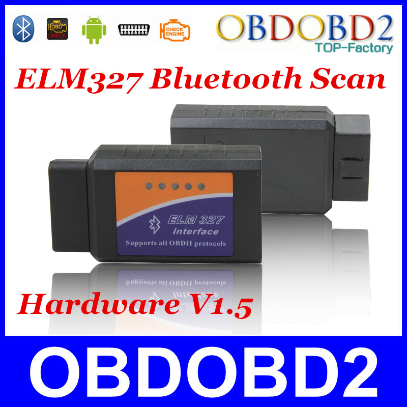 V1.5 Supports Android  Diagnostic Tool Bluetooth ELM327 CAN-BUS Scanner OBDII ELM 327 USB Interface ELM327 V1.5 BT Free Shipping<br><br>Aliexpress
