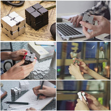 Buy Infinity Cube Magic Cube Mini Fidget Toy Finger Spinner Cubic Puzzle EDC Relief Stress Blocks Adult Children Kids Funny Toys for $4.59 in AliExpress store