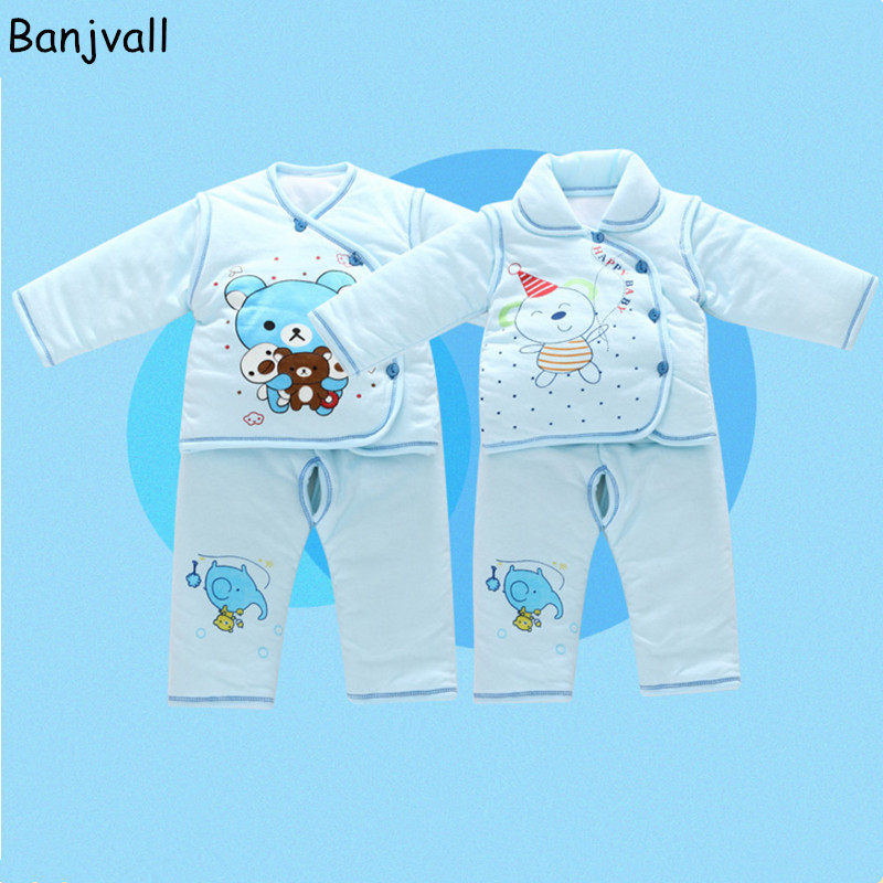 2016 Winter Thick Warm Newborn Baby Clothing Gift  Set 100% Cotton Cotton Clothing Underwear Suits 4 Pieces/Set New Arrival<br>