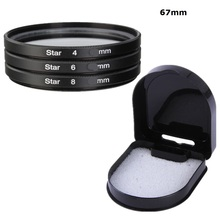 67mm star filter 4 6 8 Point Star Cross Line Lens Filter Kit For Canon EOS 1200D 600D 100D 18-135mm camera 67 mm lens