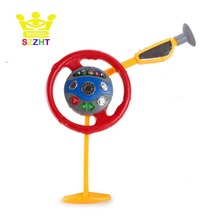 Pretend Play Simulation Kids Steering Wheel Toys Electronic Backseat Driver Creative Educational Toys for Children Light Music
