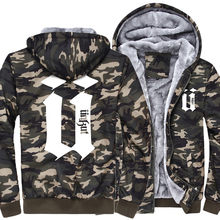 jackets men 2018 wool liner winter warm coats hipster zipper thicken Camouflage sleeve sweatshirts man's brand tracksuits M-5XL(China)