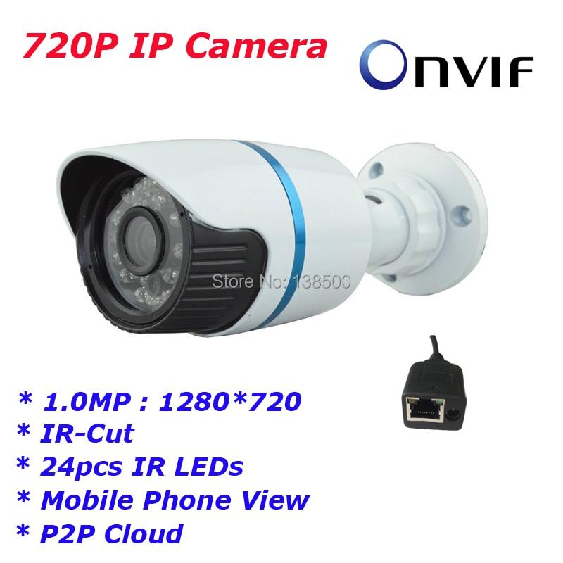 Free Shipping Wholesale H.264 Hi3518E HD IP Cameras 1280*720P 1.0MP Waterproof IP66 Outdoor / Indoor P2P Cloud<br><br>Aliexpress