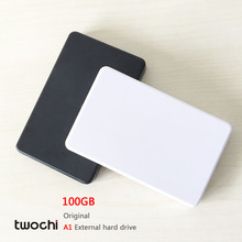Free shipping New Styles TWOCHI A1 Original 2.5'' External Hard Drive 100GB Portable HDD Storage Disk Plug and Play On Sale(China)