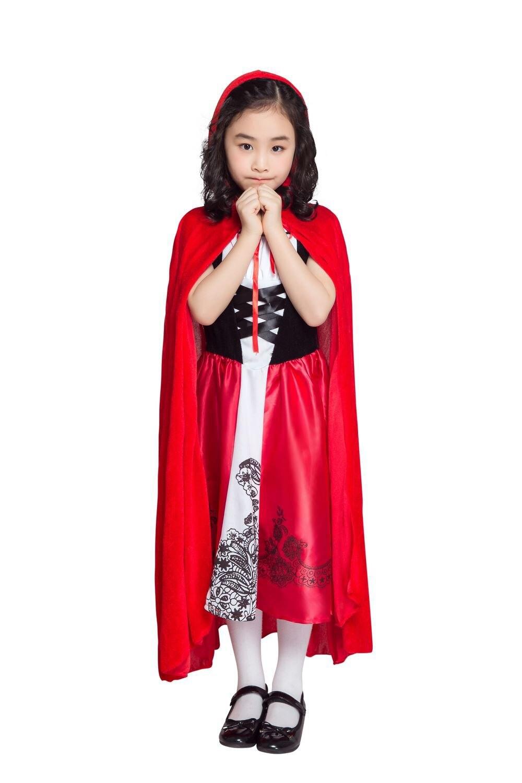 Girls Fairy Tale Little Red Riding Hood Costume Halloween Kids