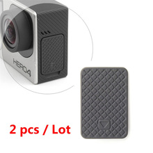 SOONSUN 2pcs/lot GoPro USB Side Door Cover Replacement for Go Pro Hero 4 3+ 3 Black Silver(China)