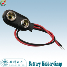 100pcs/lot 9 V Battery Connector 9V snap Clip Lead Wire PVC Soft Leather Battery Holder TBH-S1