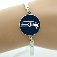 TAFREE Brand Football Seattle Seahawks team logo bracelet Handcrafted Chicago charm Merry Christmas New Year gifts jewelry B622