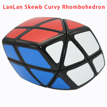 CubeStyle New LanLan Skewb Curvy Rhombohedron Black Magic Cube Puzzle Speed Educational Cubo Magico Toy Gift Idea Drop Shipping(China)