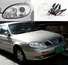 For Daewoo Leganza 1997 1998 1999 2000 2001 2002 Excellent CCFL Angel Eyes kit Ultrabright illumination angel eyes Halo Ring kit