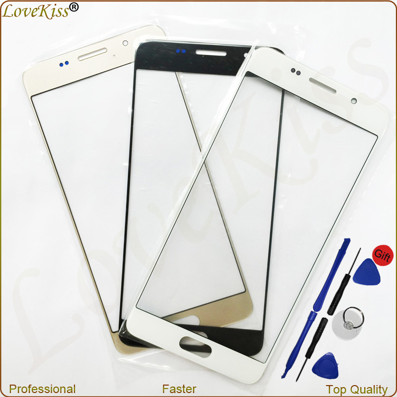 A5 Front Panel Outer Glass Lens Samsung Galaxy A3 A5 A300 A500 2016 A310 A510 A510F Touch Screen Cover Replacement Sensor