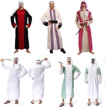 2017 Adults Men Arab Prince King Cosplay Costume Fancy Dress Outfit Robe Colthes Birthday Halloween Party Fancy Dress Supplies