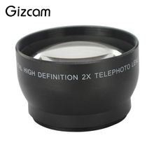 Buy Gizcam Professional 52mm 2 Magnification Telephoto Tele Lens Nikon D5100 D3200 D70 D40 DSLR Camera Digital Cameras for $13.29 in AliExpress store