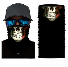 Face Shield 3D Seamless Neck Gaiter Skull Joker Tube Ring Scarf Clown Headband Bandana Neckerchief Motorcycle Sun Mask(China)