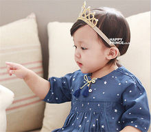 New Arrival Glittering Crown Cute Baby Headband Girls Hair Band New Head Wrape Infant Hair Accessories Princess Tiara Headband(China)