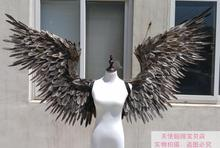 EMS free shipping white black large wings feathers T-stage model catwalk shows wings props party performance shows props cosplay