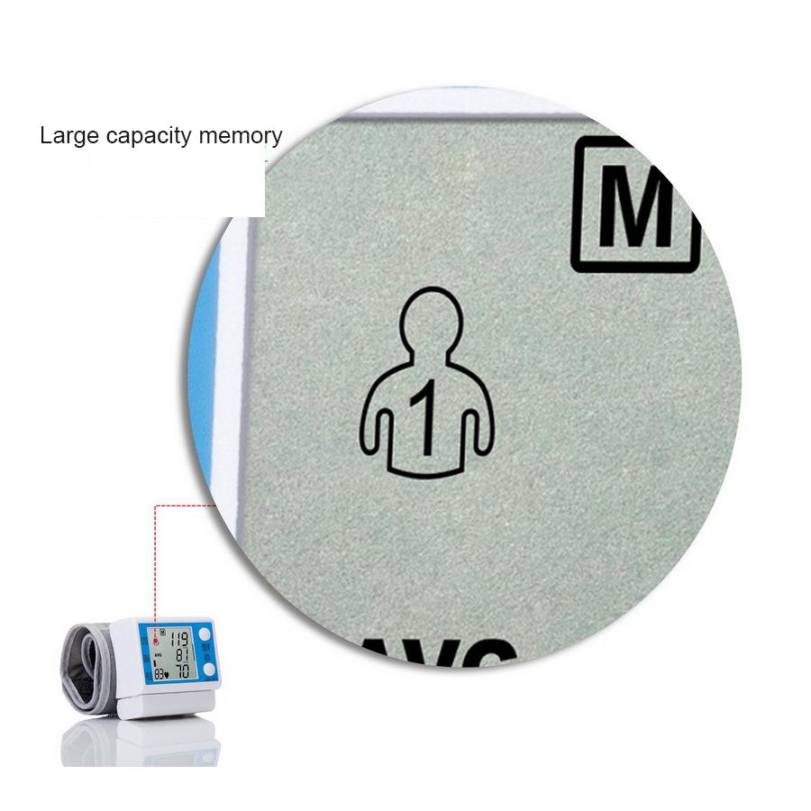 Household intelligent Electronic Upper Arm blood pressure monitor Digital LCD sphygmomanometer Health Care 6