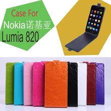 Lingmao Brand,Factory price,  Hot Sale 100% Genuine leather case for Nokia Lumia 820 Case Case  open up and down