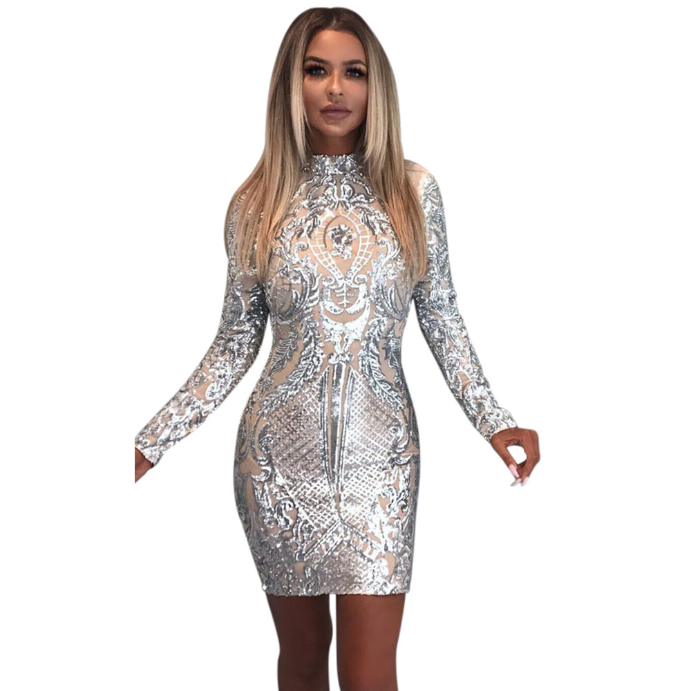 Casual dresses are the most commonly seen dresses for women among all  clothing. A pair of long sleeve white and gold dress can make woman look  soft and ... bfec35376e55