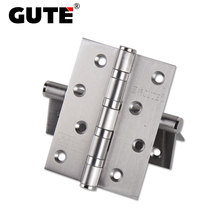 GUTE Bearing Door Hinges Stainless Steel Thickness 2.5 mm Butt Hinge 4 inch Furniture Gate Flat Open Mute Hinge Load 40 kg 2PCS(China)