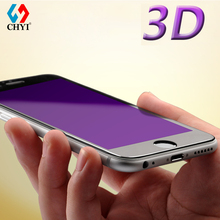 3D Arc Edge Tempered Glass For iphone 6 7 6s plus Anti UV Full Screen Protector CHYI Brand Eyecare Oleophobic Coating Protective