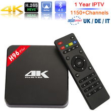 1 Year IPTV Europe H96 Plus Android Tv Box 2GB Ram 16GB Rom Amlogic S905 Android 5.1 Set Top Box 2.4G/5.0GHz WiFi Media Player