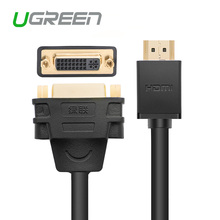 Ugreen HDMI to DVI 24+5 Cable Adapter HDMI Male to DVI DVI-I Female M-F Converter Adaptor Support 1080P for HDTV LCD , Black(China)