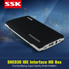 Hot SSK SHE030 2.5 inch USB 2.0 IDE HDD Enclosure External HDD Case Up to 480 Mbps 2.5 '' Metal Hard Disk Box for laptops OTB(China)