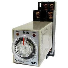 0-3 Minute 3M Timer H3Y-2 Power On Delay Time Relay 8 Pin with Socket AC220V/AC110V/DC24V/DC12V