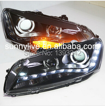 For  VW Passat V6 B7 LED Head Lamp Angel Eyes 2011 TO 2012 Year LDV1