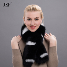 Hot Women's The Fashion Genuine Genuine Real Leather Fox Scarf Scarve Cape Wraps Free Shipping Good Quality   HW-04