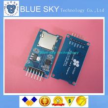 Free shipping! Micro SD card mini TF card reader module SPI interfaces with level converter chip