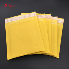 20pcs Yellow Kraft Paper Envelope 13 * 13cm +4 Cm * 2.5g Waterproof Sunscreen Express Poly Bubble Mailer Envelope Bag Mailing Ba(China)