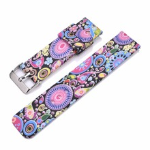 Bemorcabo Quick Release Watch Straps DIY Lips Butterfly Owl Silicone Rubber Replacement Watch Bands for Mens and Womens 22mm(China)